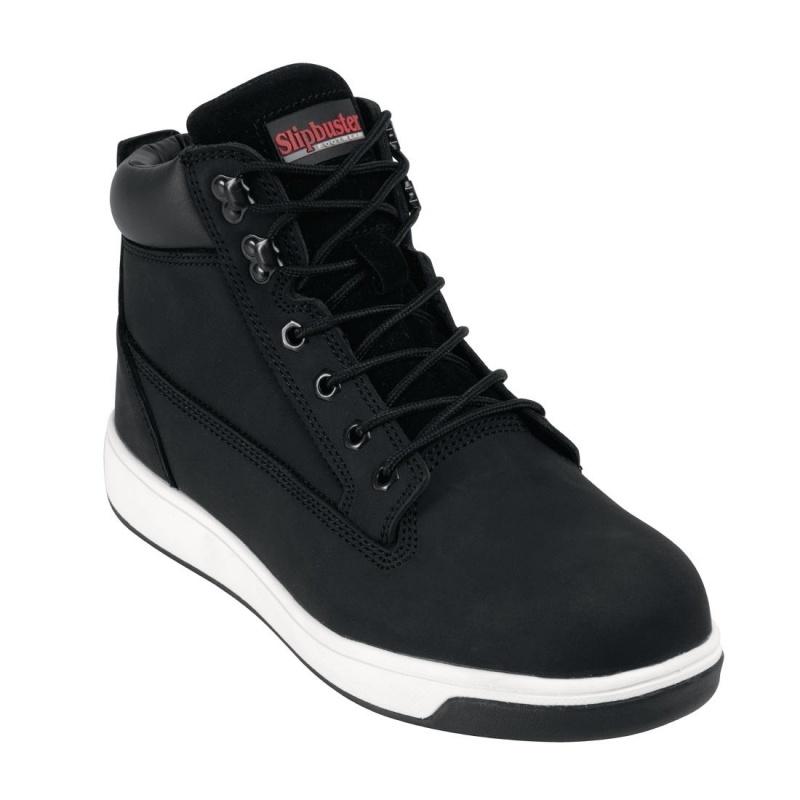 Chaussures de sécurité montantes en cuir nubuck Slipbuster