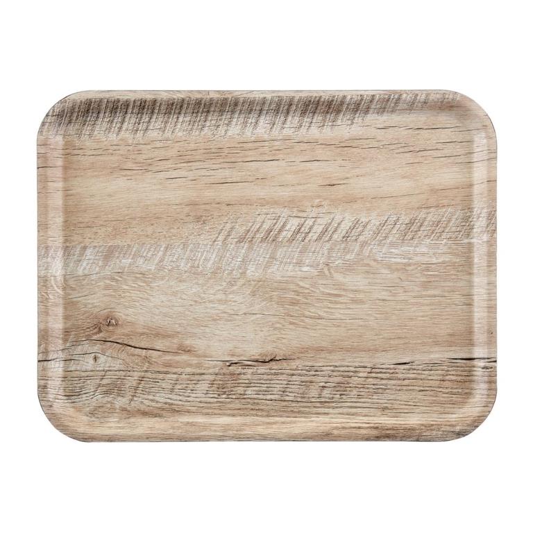 Plateau stratifié surface grainée Madeira Cambro chêne clair 43 cm