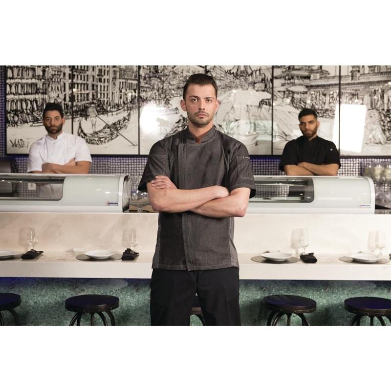 Veste chef denim à manches courtes Chef Works Urban Delance