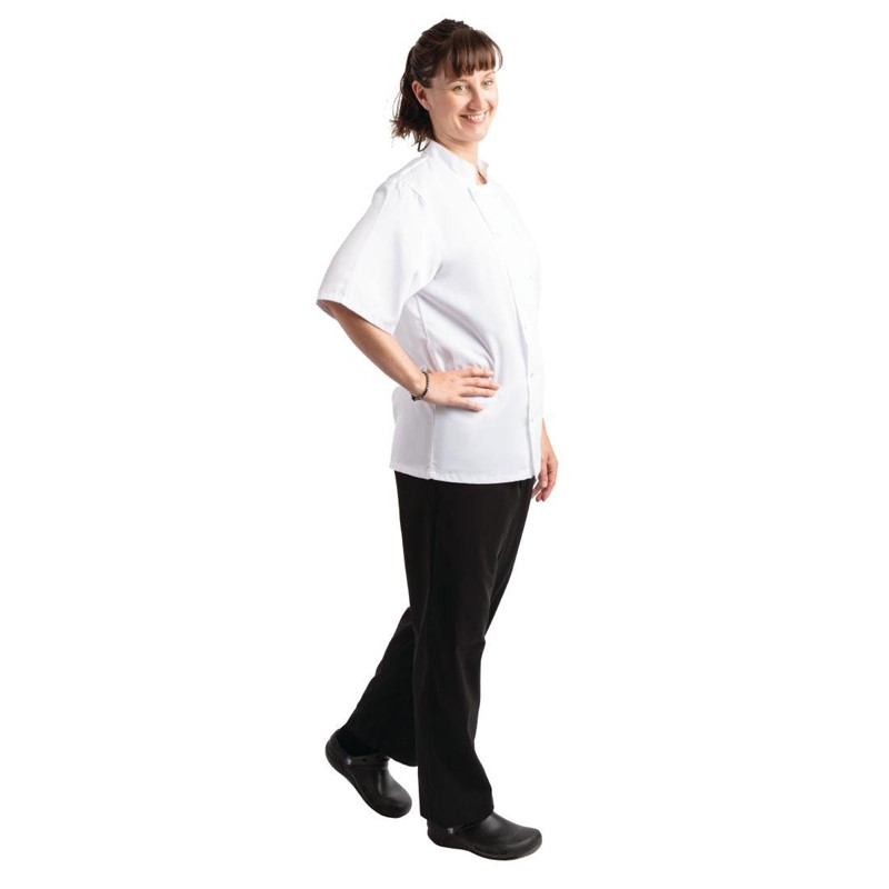 Pantalon de cuisine mixte traité au Teflon Easyfit noir