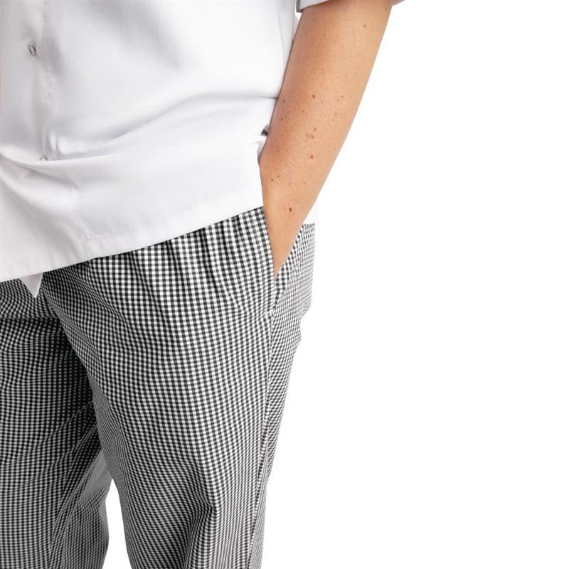 Pantalon de cuisine Whites Easyfit à petits carreaux noirs