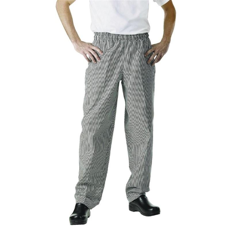 Pantalon de cuisinier unisexe Chef Works Easyfit carreaux noirs