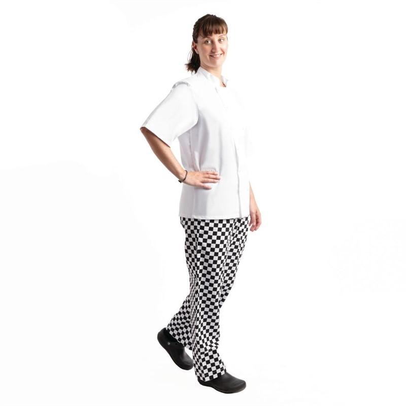 Pantalon de cuisine Whites Easyfit à carreaux blanc et noir