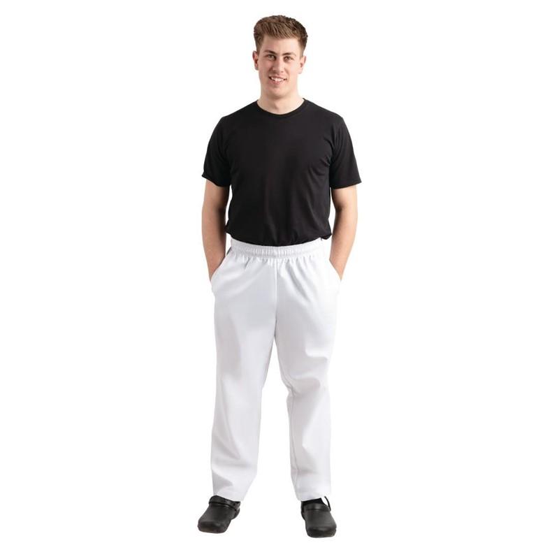 Pantalon de cuisine Whites Easyfit blanc