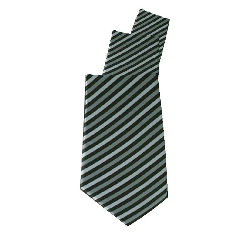 Cravate Uniform Works grise rayée