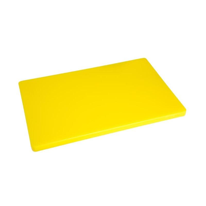 Grande planche à découper épaisse basse densité Hygiplas jaune