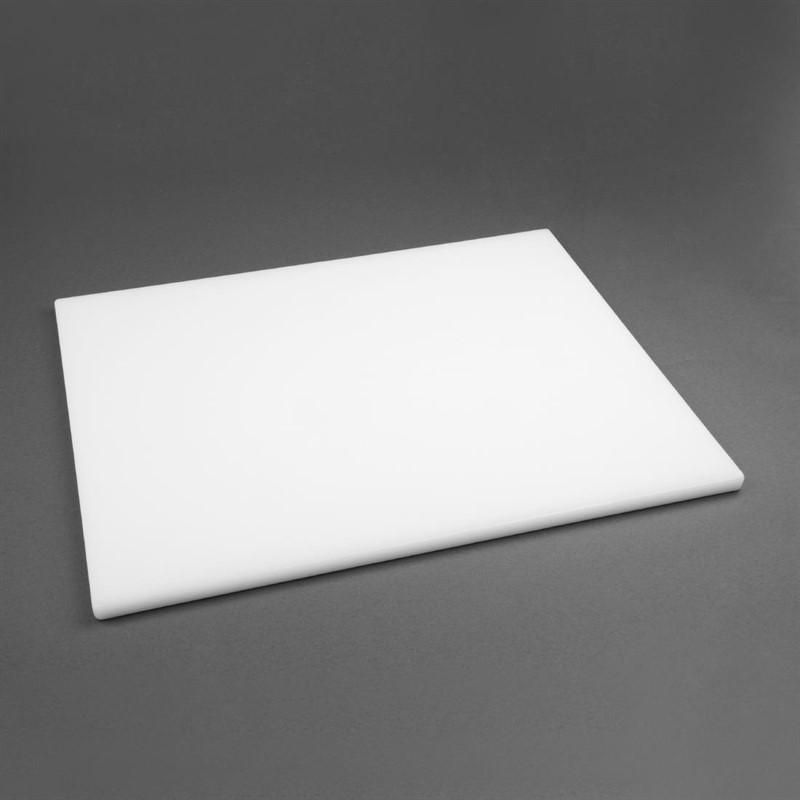 Grande planche à découper épaisse basse densité Hygiplas blanche