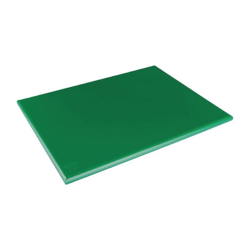 Grande planche à découper épaisse basse densité Hygiplas verte