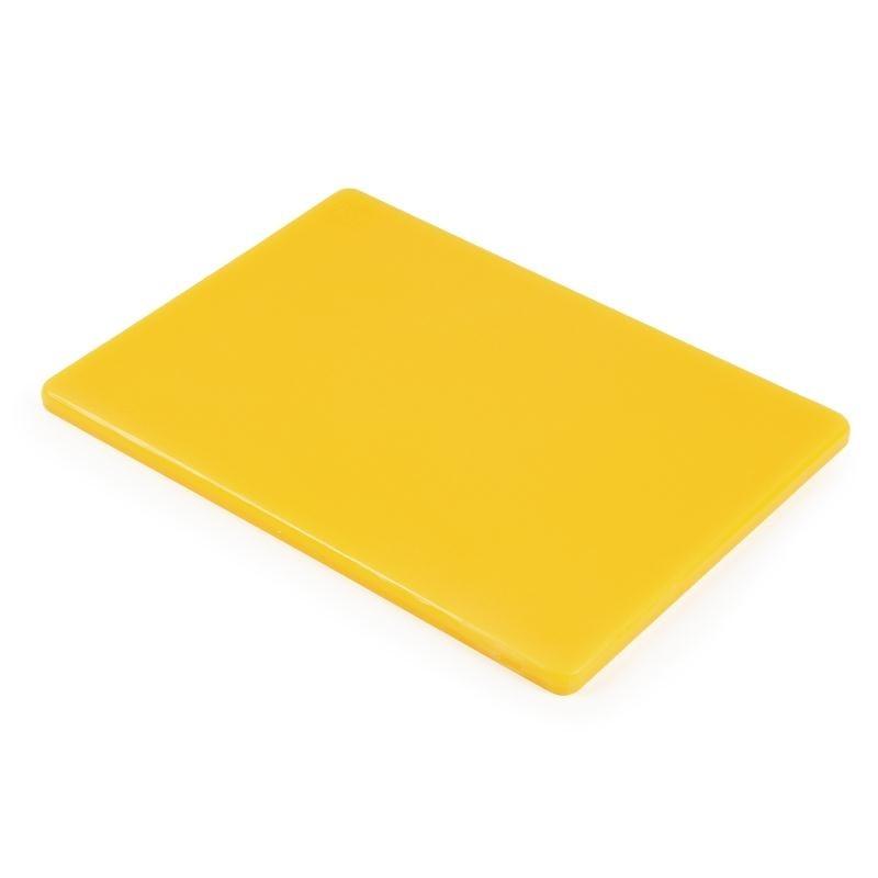 Petite planche à découper basse densité Hygiplas jaune