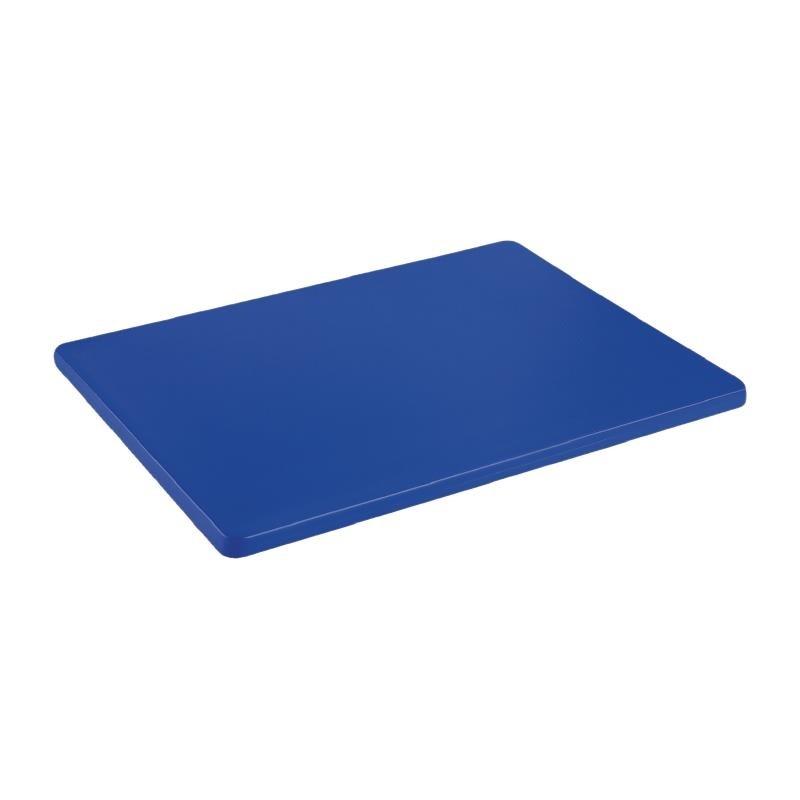 Petite planche à découper basse densité Hygiplas bleue