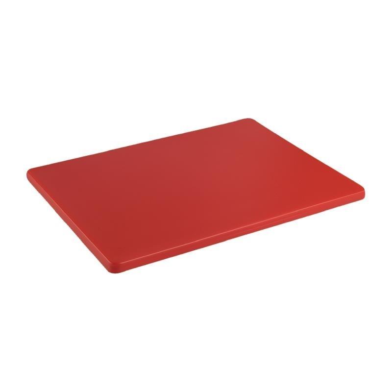 Petite planche à découper basse densité Hygiplas rouge