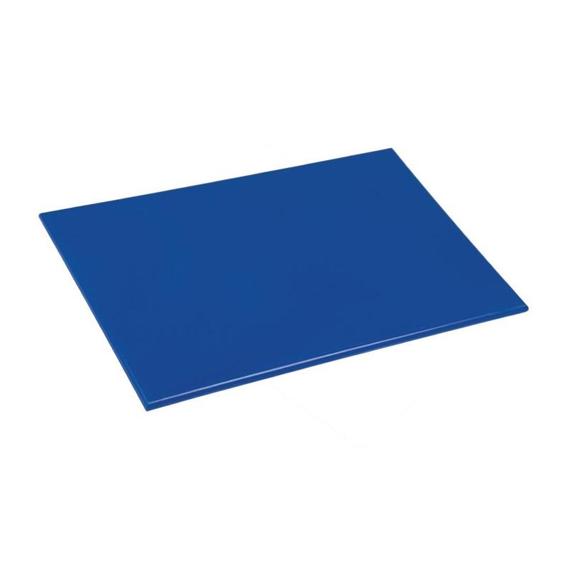 Planche à découper antibactérienne basse densité Hygiplas bleu