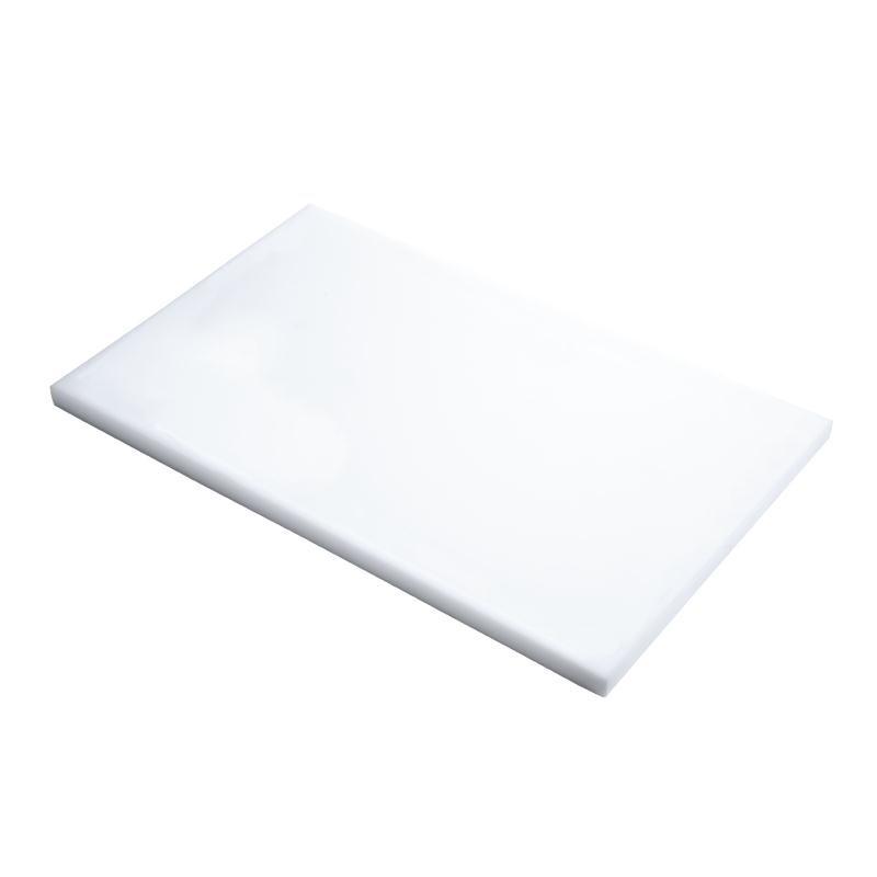 Planche à découper en polyéthylène haute densité Gastro M  blanche