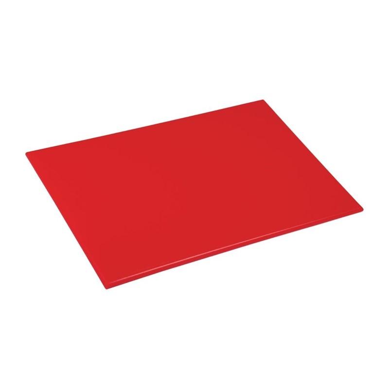 Planche à découper anti-bactérienne en haute densité Hygiplas rouge