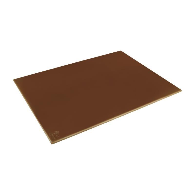 Grand planche à découper haute densité Hygiplas marron
