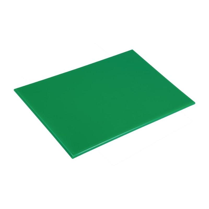 Planche à découper anti-bactérienne en haute densité Hygiplas verte
