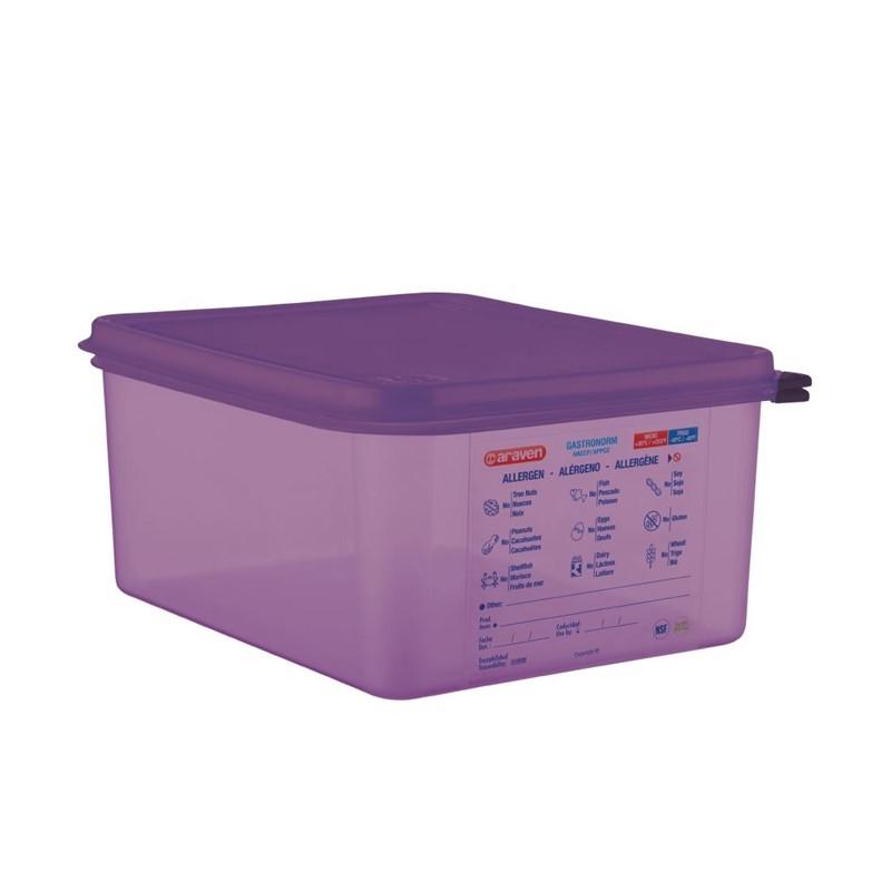 Bac hermétique violet antiallergénique GN1/2 Araven 10L