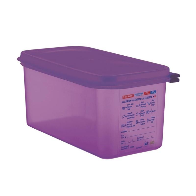 Bac hermétique violet antiallergénique GN1/3 Araven 6L