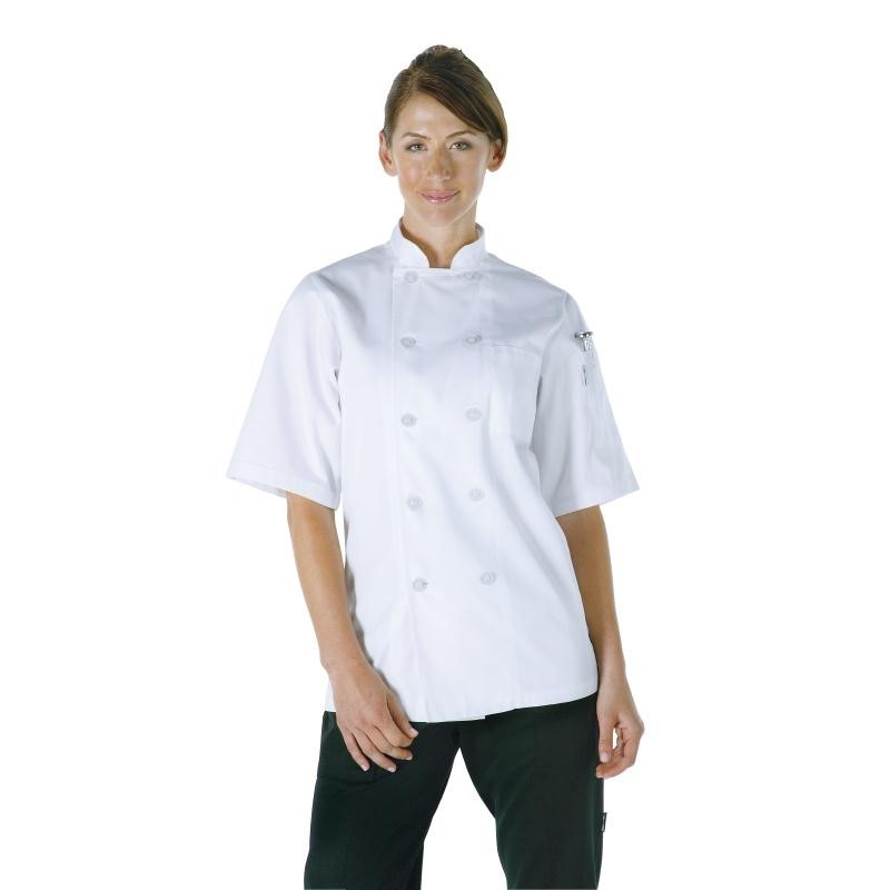 Veste chef unisexe Volnay manches courtes