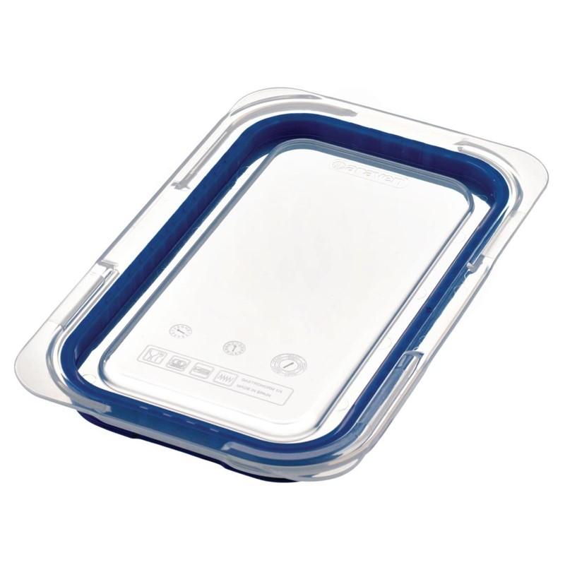 Couvercle bleu en ABS sans BPA Araven GN1/4