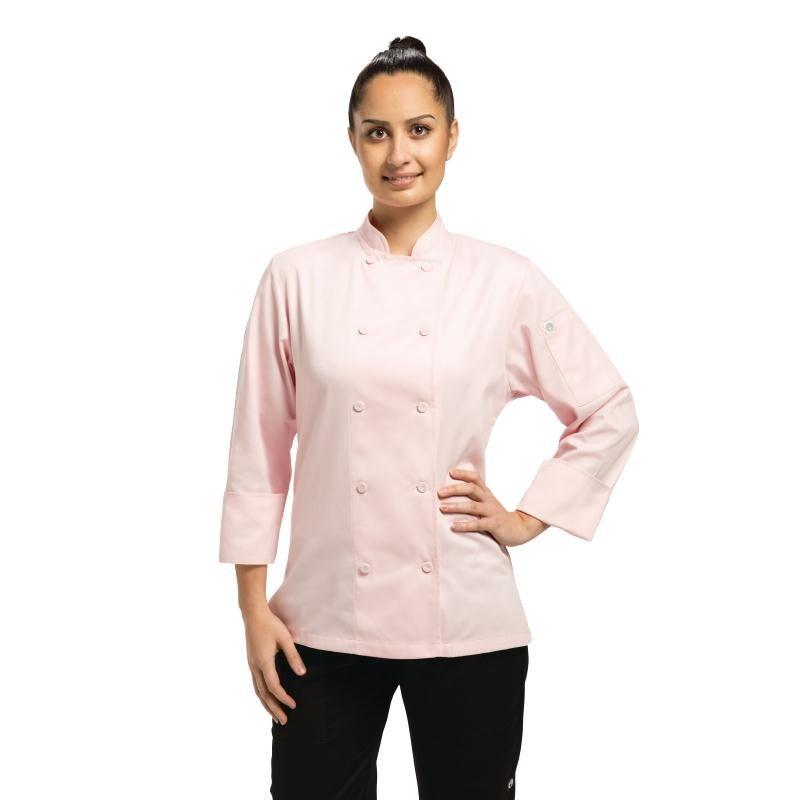 Veste chef femme Chef Works Executive Marbella rose