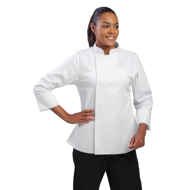Veste chef femme Executive Marbella blanche