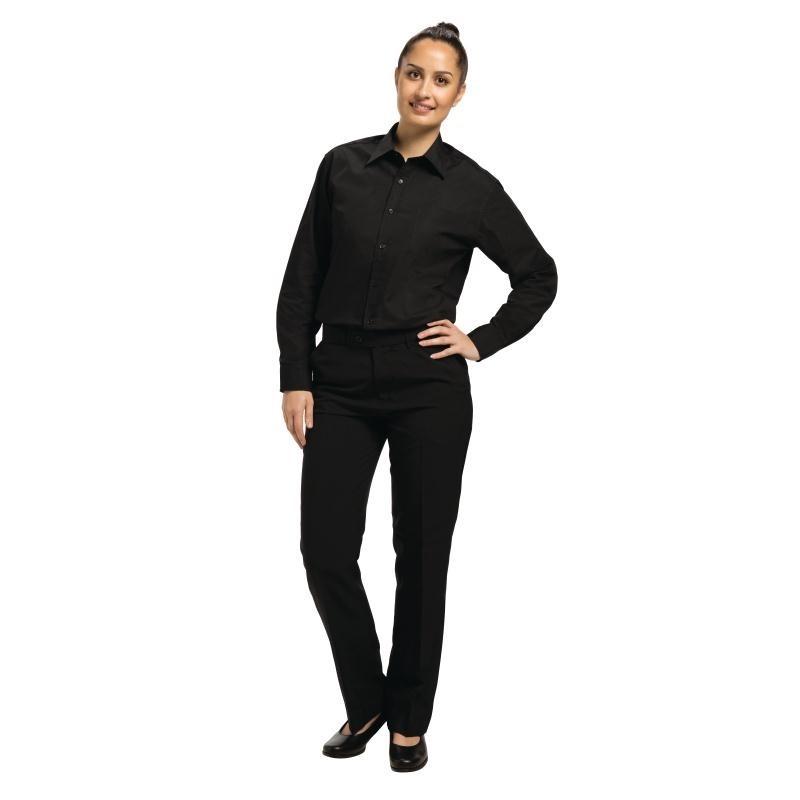 Chemise habillée unisexe noire