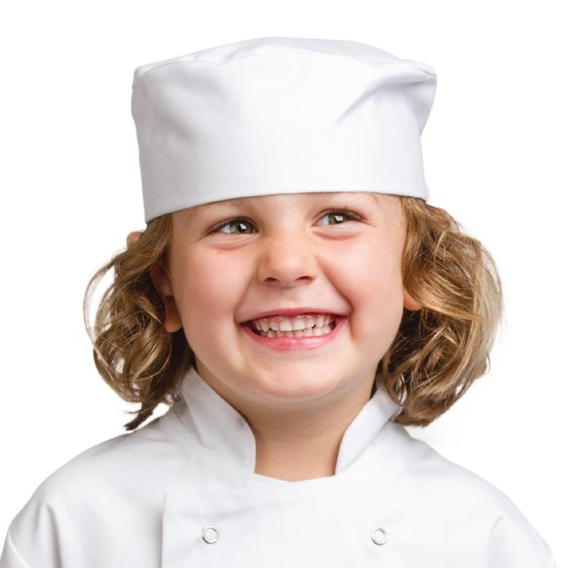 Calot de cuisine enfant blanc S