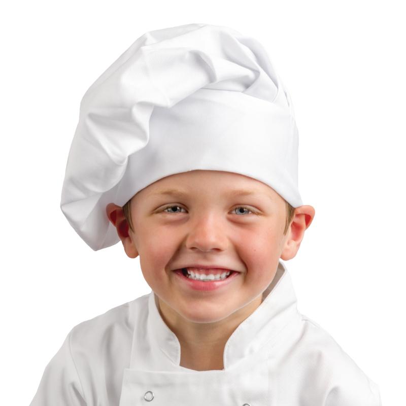 Toque de chef enfant blanche