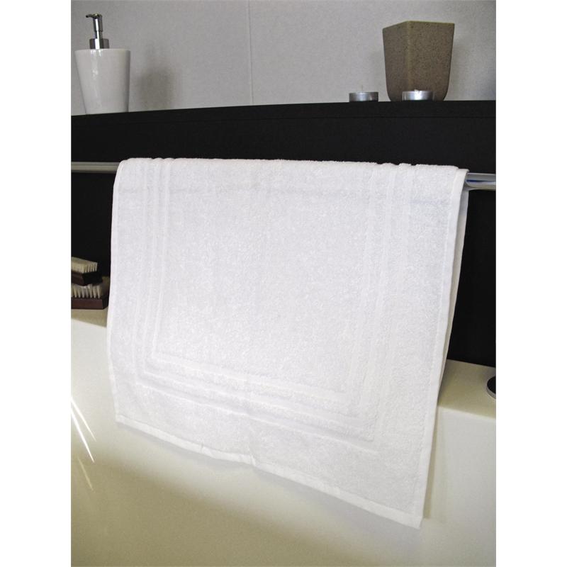 Tapis de bain blanc par 6