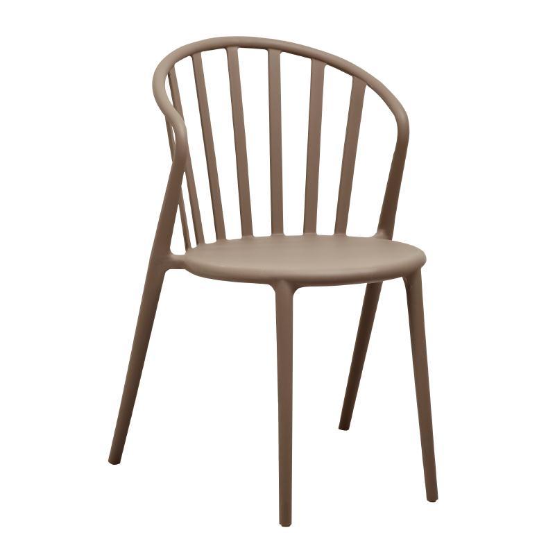 Chaises à barreaux design en PP café par 4