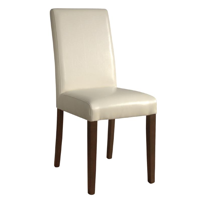 Chaises en simili cuir crème par 2