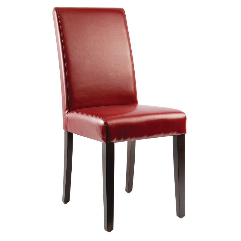 Chaises en simili cuir rouges par 2