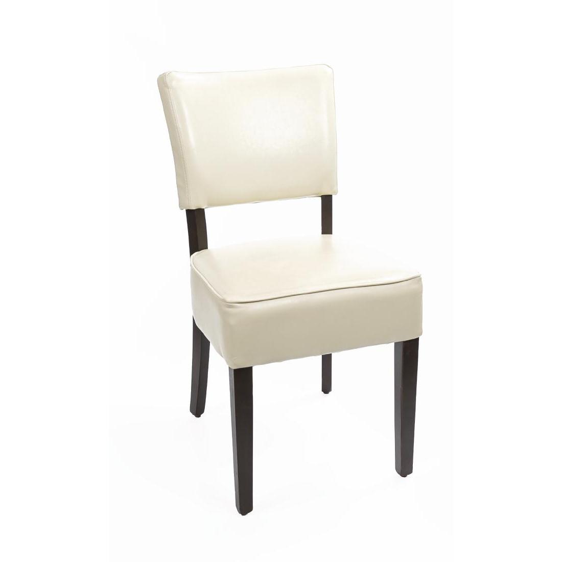 Chaises confortables en simili cuir Bolero écru