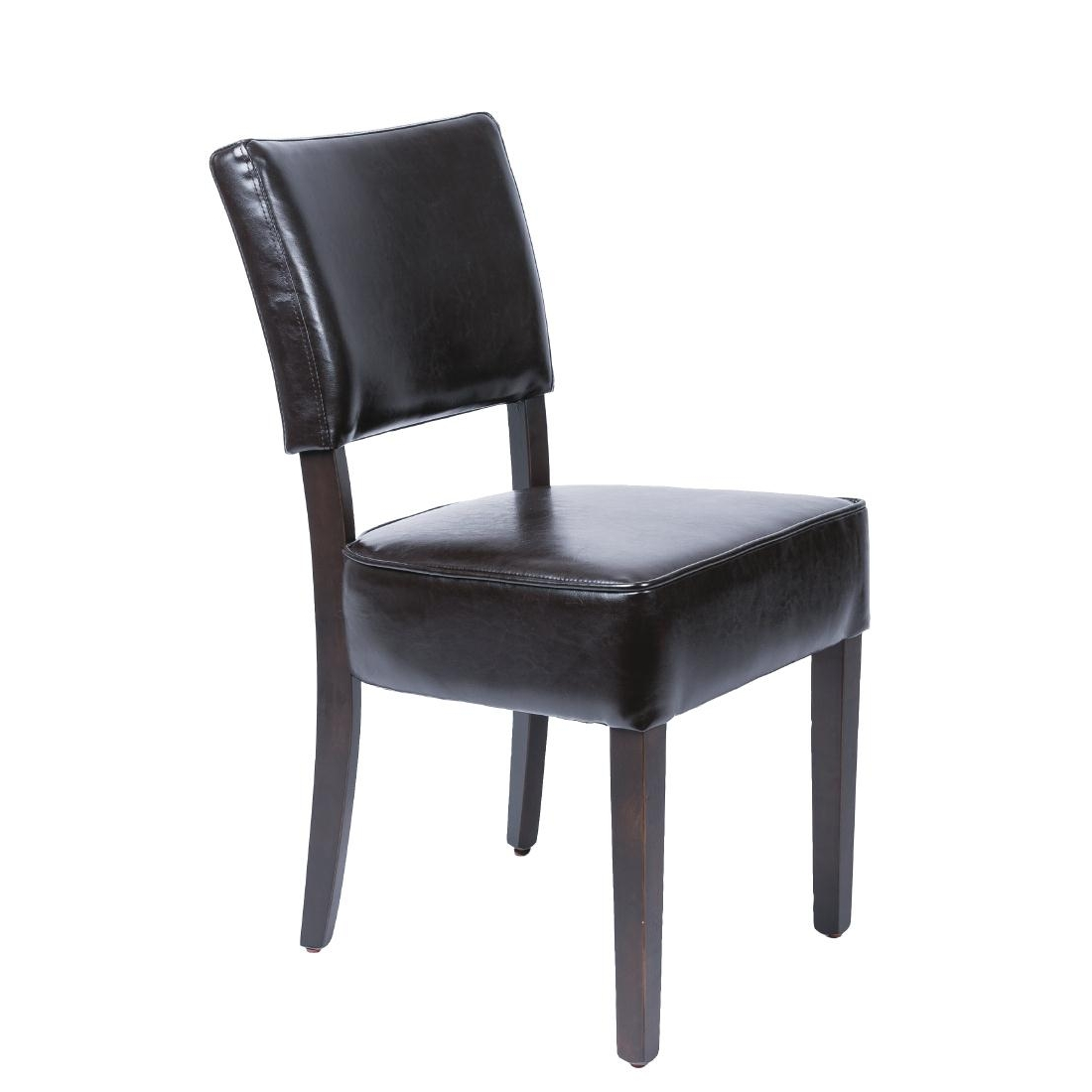 Chaises confortables en simili cuir Bolero marron foncé