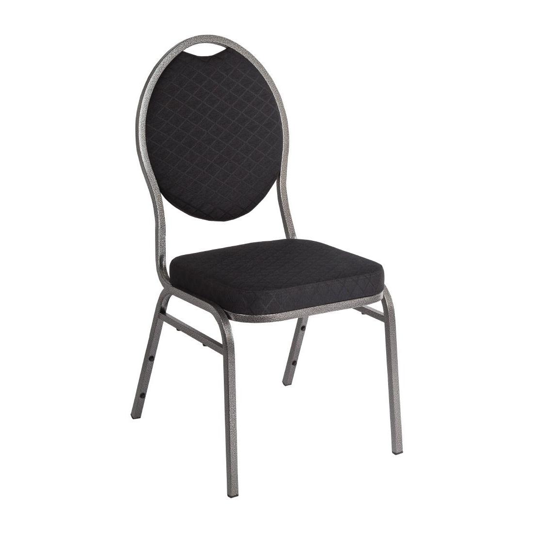 Chaises de banquet dossier ovale x4