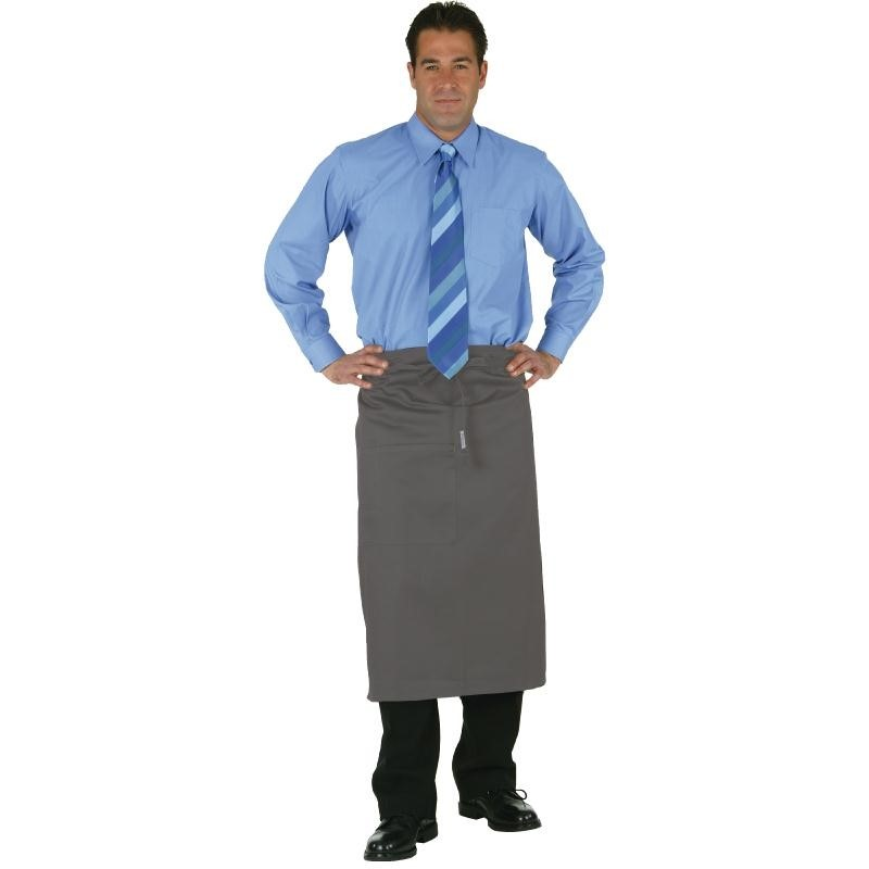 Tablier bistro mi-long Uniform Works gris anthracite