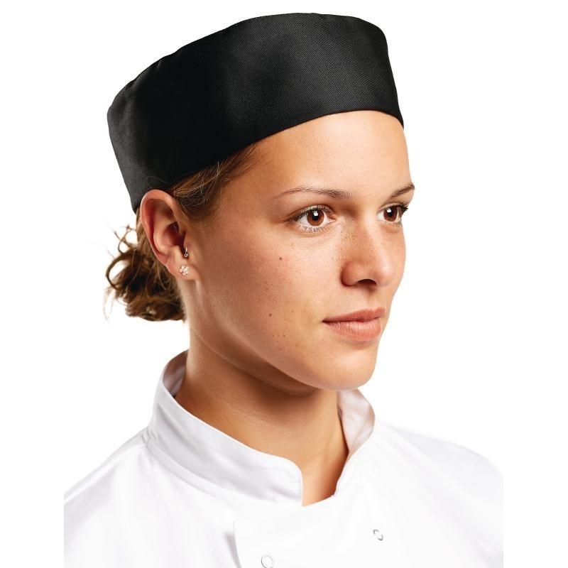 Calot de cuisine Whites noir L