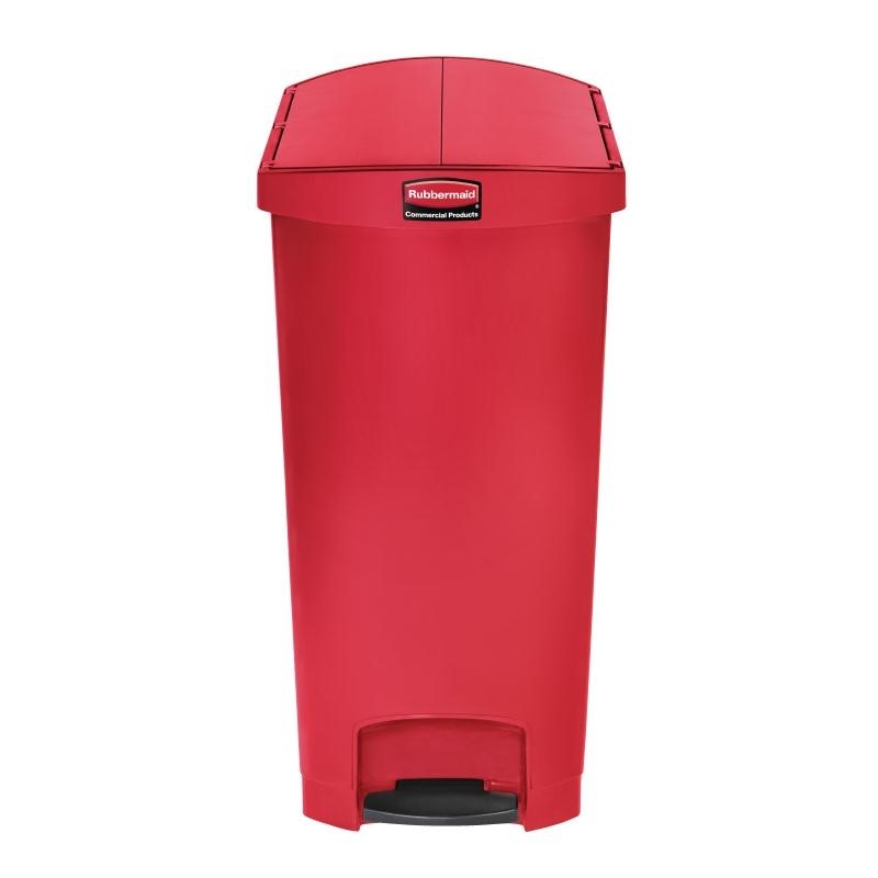 Poubelle à pédale latérale Rubbermaid Slim Jim 90L rouge