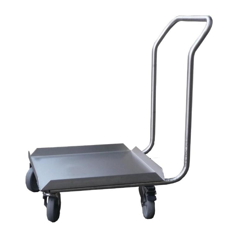 Socle inox pour casiers de lave-vaisselle avec poignée Gastro M 500 x 500mm