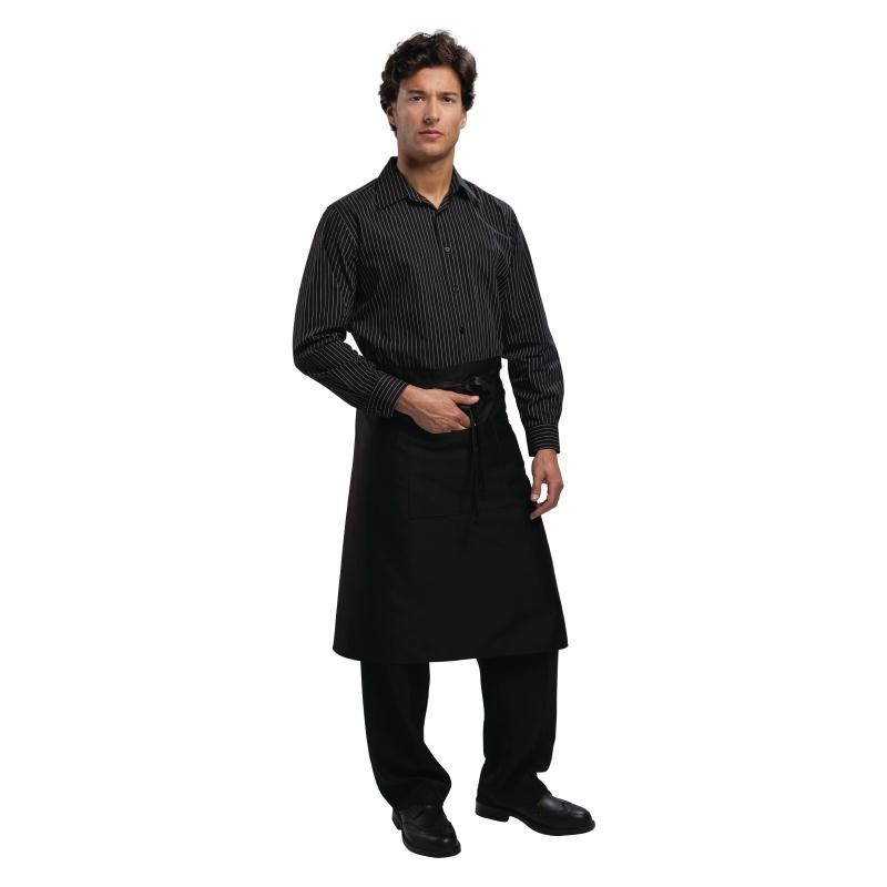 Tablier bistro standard Uniform Works noir
