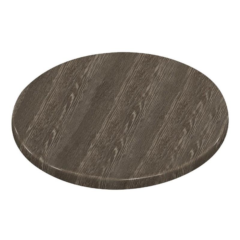 Plateau de table rond Bolero effet bois vieilli 600mm