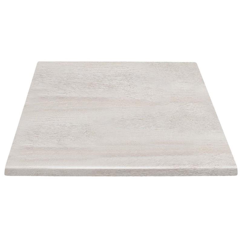 Plateau de table carré Bolero effet bois flotté 600mm