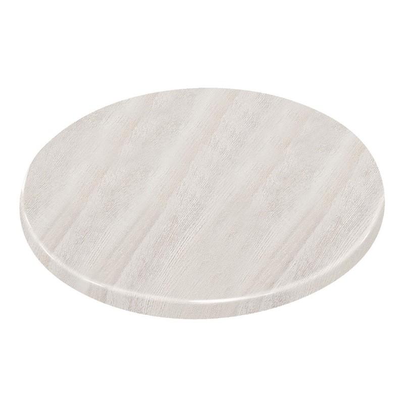 Plateau de table rond effet bois flotté Bolero 600mm