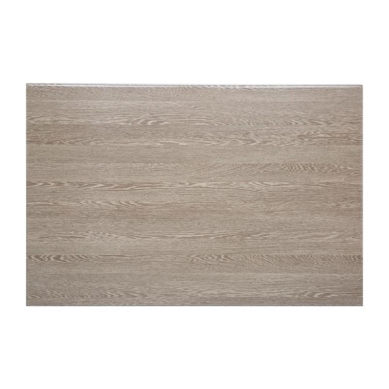 Plateau de table rectangulaire pré percé Bolero coloris wengé