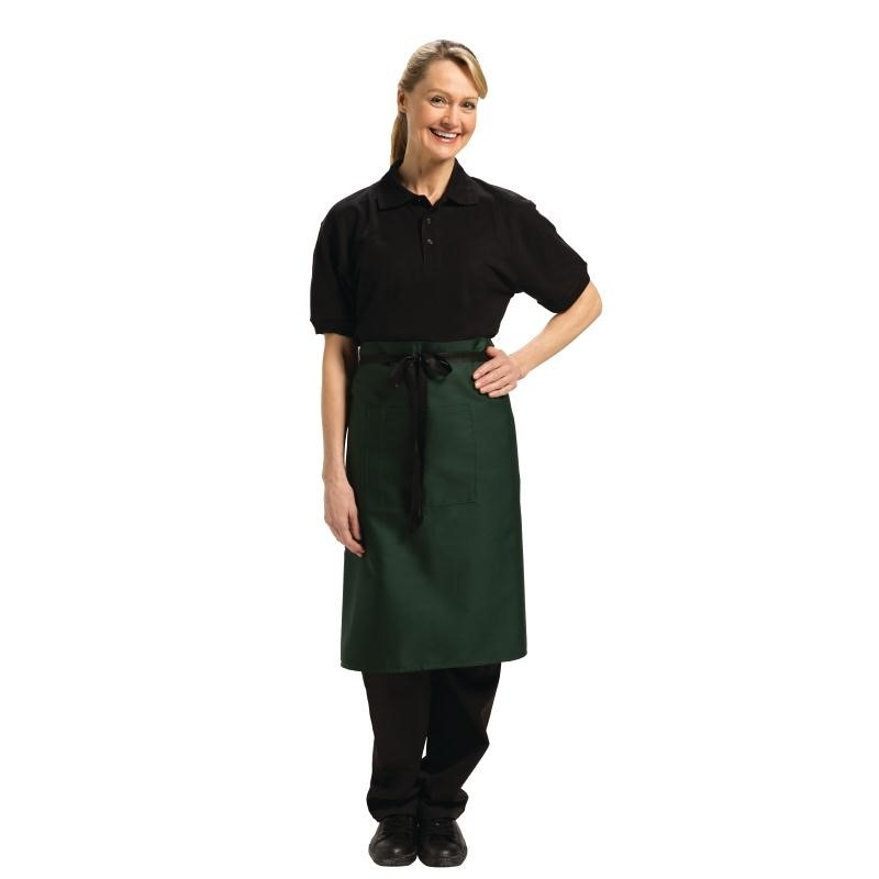 Tablier bistro mi-long Uniform Works vert