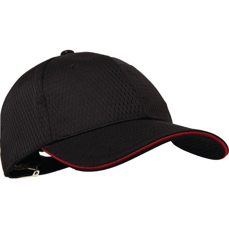 Casquette baseball Cool Vent Chef Works noire et rouge