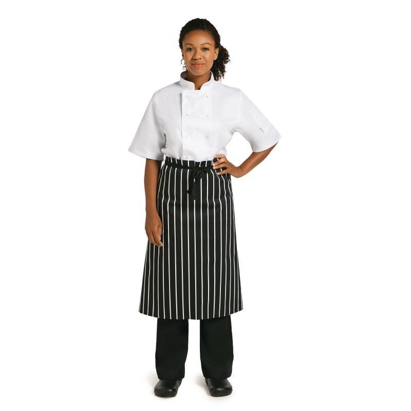 Tablier de cuisine Whites rayé blanc et noir