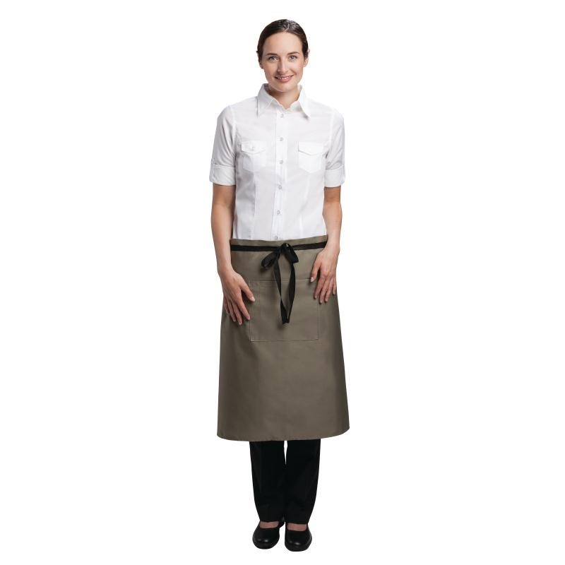 Tablier bistro mi-long Uniform Works olive