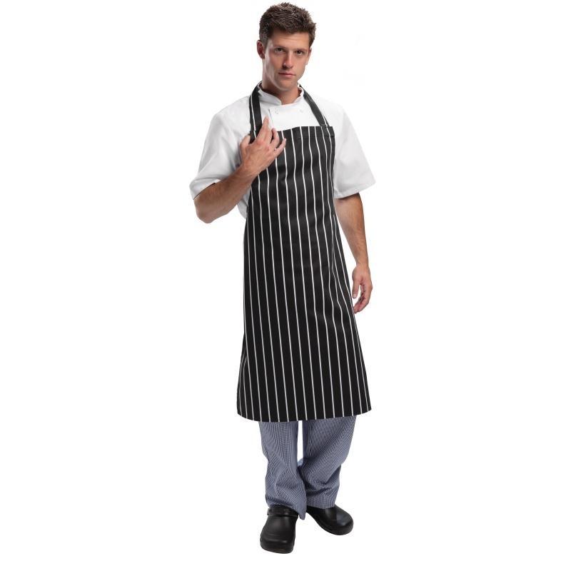 Tablier de cuisine Whites rayé noir et blanc